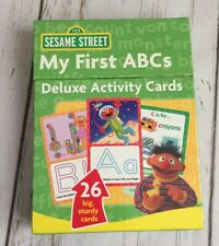 Sesame Street My First Abcs Alphabet Deluxe Activity Big Wipe Off Learning Cards