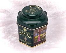 More details for small vintage twinings of london tea tin/caddy-paintings ladies & gents in park