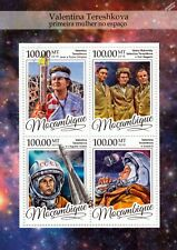 VALENTINA TERESHKOVA First Woman Cosmonaut in Space Stamp Sheet/2016 Mozambique