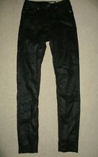 LADIES ALL SAINTS BLACK COATED STILT SKINNY JEANS SIZE 27W / 30L