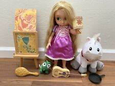 Disney Store Tangled Singing Rapunzel Toddler Animator Gift Set Light Up Lantern