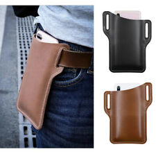 Mens Cell Phone Holster Waist Bag Belf Loop Pu Leather Wallet Case Pouch Cover