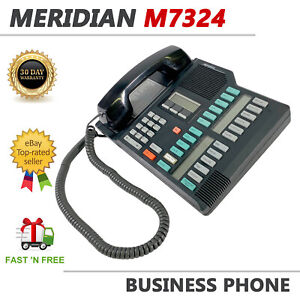 Nortel Meridian M7324 Black Business Display Telephone
