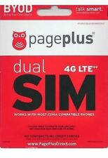 Page Plus Dual or Nano 4G Lte SimCard + $55 Plan Month Unlimited 4G Lte Data