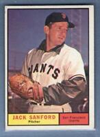 1961 Topps #258 Jack Sanford EX   GO269