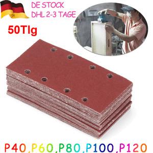 50x Klett Schleifpapier 185x93mm Korn 40-120 Schleifblätter für Schwingschleifer