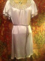 STUNNING GREY MONSOON TUNIC DRESS, 100% SILK, SIZE 12, Very Luxury Item, Studded