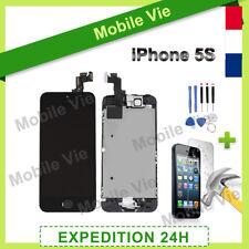 ECRAN IPHONE 5S NOIR COMPLET VITRE TACTILE + LCD RETINA SUR CHASSIS + FILM