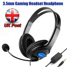 Deluxe Gaming Headset Headphone Mic Volume Control for Ps4 Controller Xbox