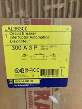 Lal36300 Square D 300 amp 600 volt Lal Feed Thru Green Label Breaker New In Box