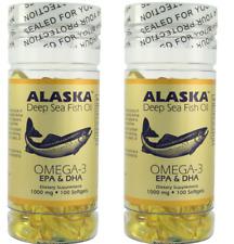 Alaska Deep Sea Fish Oil, Omega 3, DHA/EPA 1000 mg 200 Softgels NEW FAST SHIP