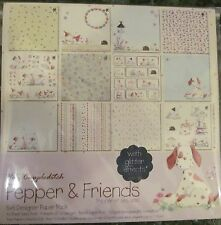 "Helz Cuppleditch Pepper & Friends Sample Paper Pack (12 sheets x 6x6"" size)"