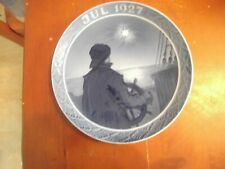 "Royal Copenhagen Christmas Plate 1927 ""Helmsman on Christmas Night 1927""."