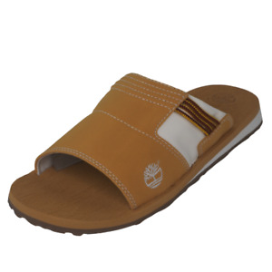 Timberland Stoney Slide Classics Leather Mens Sandals Leather Size 7 Wheat 36901