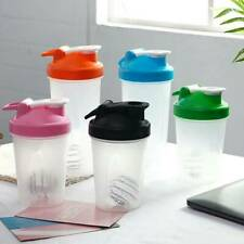 400/600ml Protein Blender Shaker Mixer Shake Cup Drink Whisk Bottle Gym Sports