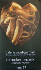 Miroslav BROZEK (XX) Affiche d'Art 1977 Sculptures murales / Art Poster