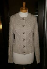 Chunky, Cable Knit Wool Blend Hand-wash Only Solid Jumpers & Cardigans for Women