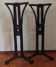 VINTAGE CAST IRON ADJUSTABLE TABLE LEGS - HARVARD BOBRICK BOSTON