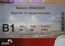 TICKET BL 2004/05 Bayer 04 Leverkusen - FC Bayern München