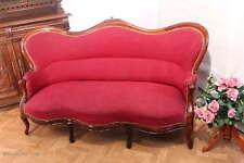 Prächtiges antikes Biedermeier Sofa / Couch / 3Sitzer Sofa / Nußbaum Massiv
