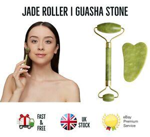 Natural Facial Massage Jade Roller Gua Sha Scraper Anti Ageing Face Massage Tool