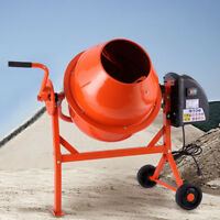 2-1/5cuft Mixer Concrete Cement Mortar Portable Electric Barrow Machine