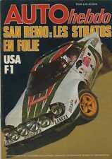 AUTO HEBDO n°33 du 14 Octobre 1976 GP USA JARAMA Gr2 SAN REMO