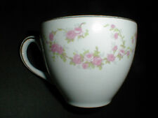 Alfred Meakin England Glo-White Pink Roses Swags Teacup/ Cup/s (loc-up-st)