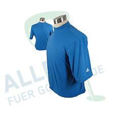 Adidas ClimaLite Mock-Shirt  blau BW-Mischgewebe US L / EU XL neu OVP Rechnung