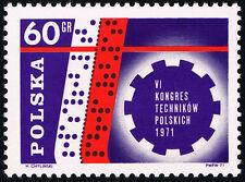 Polska Poland 1971 Fi 1954 Mi 2101 MNH VI Kongres Techników Polskich