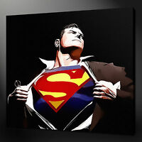 """SUPERMAN MOVIE CANVAS WALL ART PICTURES PRINTS 12""""x12"""" FREE UK P&P"""