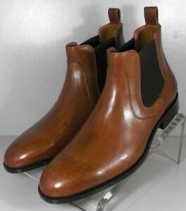592830 SPBT50 Men's Shoes Size 9 M Dark Tan Leather Boots Johnston & Murphy