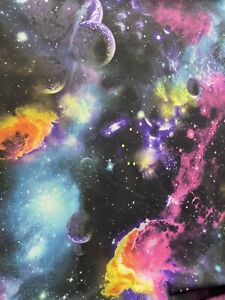 Galaxy Design Multicolor Print On Great Quality Of Nylon Spandex 4-way Stretch