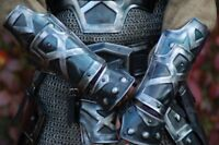Medieval Blackened LARP ARM Protection - Dwarven bracers - Pair Halloween