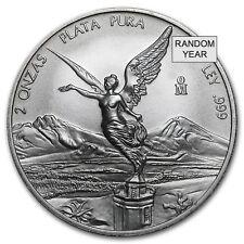 Mexico 2 oz Silver Libertad BU (Random Year) - SKU#36806