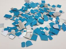 6 Oz Aluminum Craft Thin Sheet Scrap Metal Chip Material Jewelry Flat White Blue