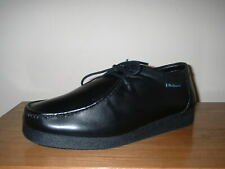 BEN SHERMAN BLACK LEATHER WALLABEE MOCCASIN LACE UP SHOES SIZE 10/44