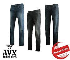 jeans AVIREX denim 3 colori UOMO cotone elasticizzato SLIM FIT 5 tasche 12,5 oz