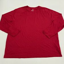 Athletic Works Performance Shirt Men's 2XL XXL Long Sleeve Red Crew Poly Blend