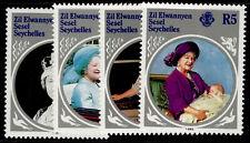 SEYCHELLES - Zil eloigne sesel QEII SG115-118, 1985 Queen mother set, NH MINT.