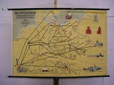 Schulwandkarte Wandkarte Deutschland Zisterzienser brauen auch Bier  118x81cm