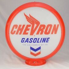 NEW CHEVRON GASOLINE GAS PUMP GLOBE SIGN