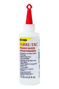 Fabri-Tac 118.56 ml Medium Bottle - Clear Adhesive - Fabric Glue Woods Washable