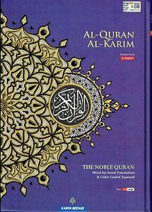 MAQDIS Quran Arabic to English Translation Colour Tajweed Large A4 ( Blue ) NEW