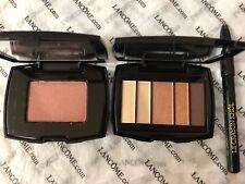 New 3 Lancome Eyeshadow French Riviera-Warm+Shimmer Mocha Havana Blush+ Eyeliner