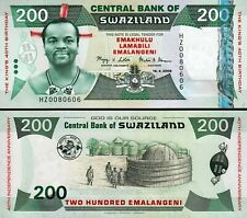SWAZILAND 200 EMALANGENI 2008, UNC, REPLACEMENT * COMMEMORATIVE * P-35