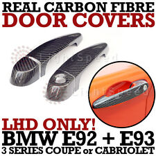 BMW E92 E93 REAL CARBON FIBRE DOOR HANDLE COVERS COUPE or CABRIOLET - LHD ONLY !