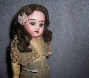 "Antique German Bisque Head + Wig~8"" Dollhouse Doll House~Armand Marseille~1894"