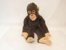 MES-63807Steiff Affe weichgestopft ohne Knopf,Schild und Fahne L:ca.49cm