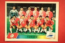 PANINI WC WM FRANCE 98 1998 N. 480 TUNISIE TEAM WITH BLACK BACK MINT!!
